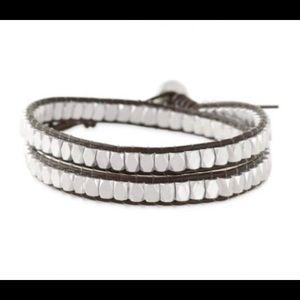 Stella & Dot silver nugget wrap bracelet